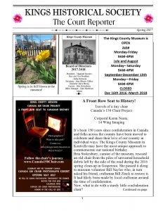 Kings Historical Society Newsletter spring 2017