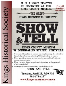 Show and tell April