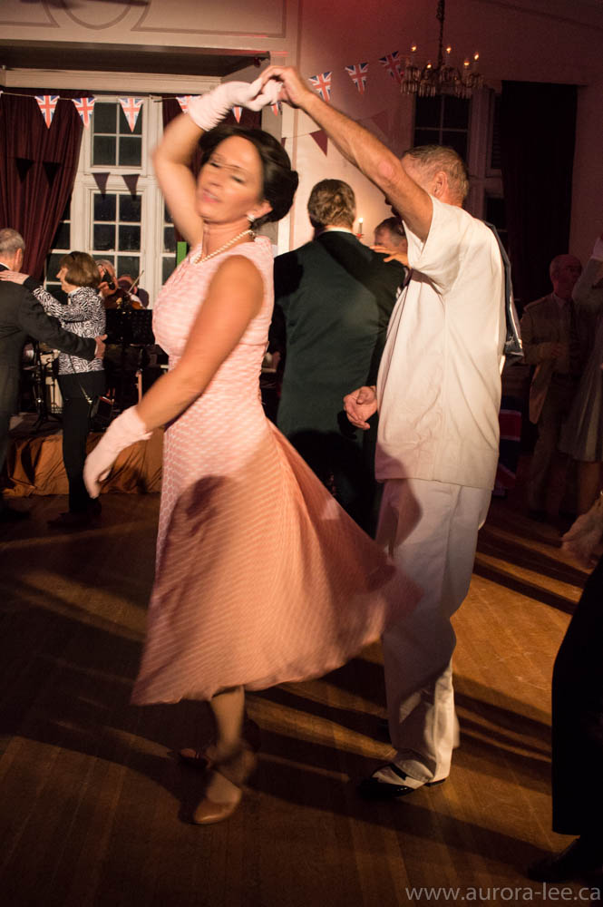 Dancers at Soldier's Social - A Kings County Museum fundraiser. Volunteers and guests